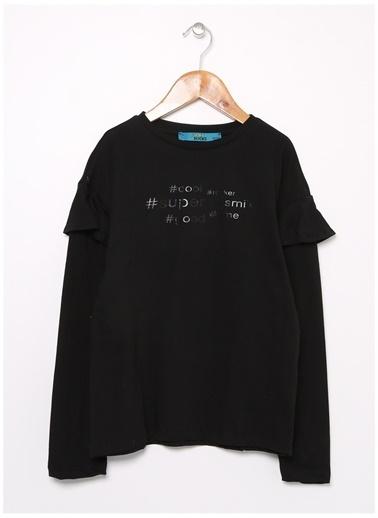 Funky Rocks Funky Rocks KP-11 Siyah Kız Çocuk T-Shirt Siyah